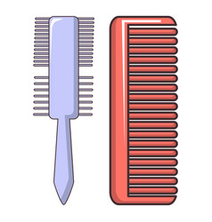Comb brush icon cartoon style vector