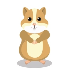 cute hamster mascot isolated icon vector image