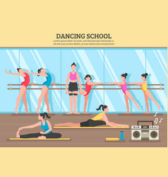 Dancing school flat vector