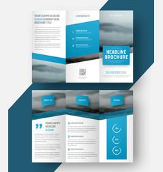Design a tri-fold brochure vector