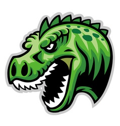 dinosaur head vector image