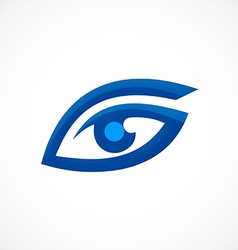 Eye vision optic abstract logo vector