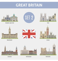Famous places cities in the uk kingston vector