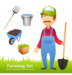 Farmer man avatar vector