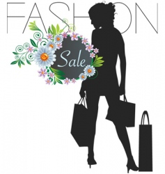 fashion sale vector image vector image
