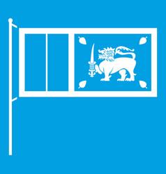 Flag of sri lanka icon white vector