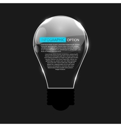 Glowing Bulb on Black Background vector image