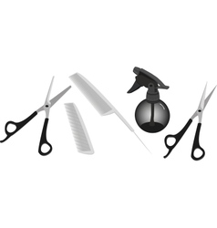 hairdressing accessories vector image