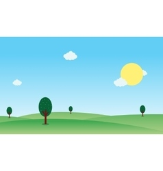 hill nature landscape vector image