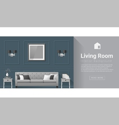 Interior design modern living room background 5 vector