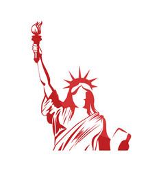 liberty statue icon vector image