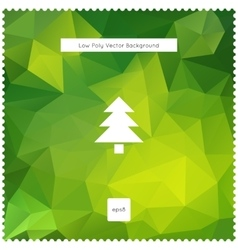 Merry christmas green polygonal background vector image
