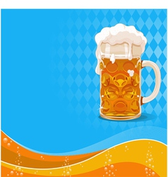 Oktoberfest beer background vector image