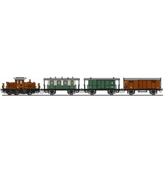 Old diesel train vector image