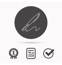 Pen icon Writing tool sign vector image