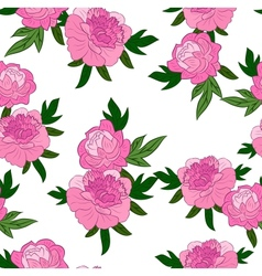 pink flowers on white background vector image vector image
