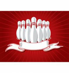 pins with banner vector image vector image