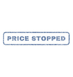 price stopped textile stamp vector image vector image