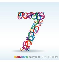 Rainbow number seven vector