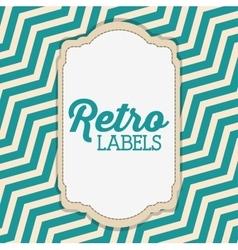 Retro label design vector image