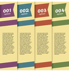 Set of Banners With Option Number vector image vector image