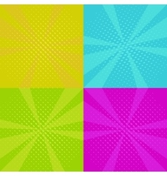 set of pop art backgrounds vector image