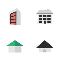Set of simple real icons elements construction vector