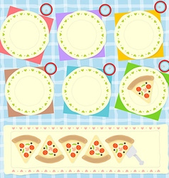 Sharing pizza vector