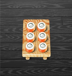 sushi roll set Japanese sushi vector image
