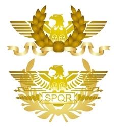 Symbols of roman legions vector
