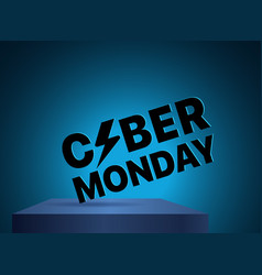 The cyber monday label discound label vector