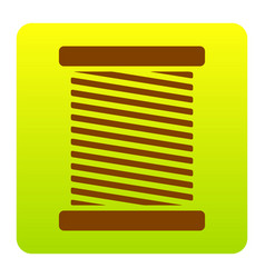 Thread sign brown icon at vector