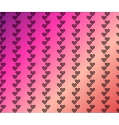 Valentine pattern with plain hearts on pink vector