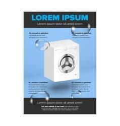Washing machine leaflet design vector image vector image