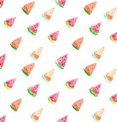 Watercolor seamless watermelon pattern vector image vector image