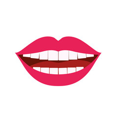 white background with smiling mouth vector image