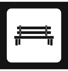 Outdoor wooden bench icon simple style vector