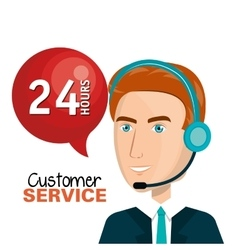 Customer service agent working online vector