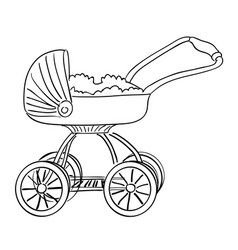 Cartoon image of stroller icon pram symbol vector