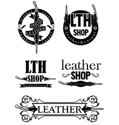 Leather logo vector