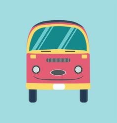 Retro bus holiday van vector
