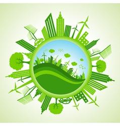 Eco cityscape vector