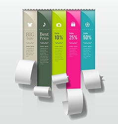 Show colorful paper roll promotional products vector