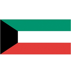 kuwaiti flag vector image
