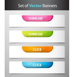 Click buttons vector