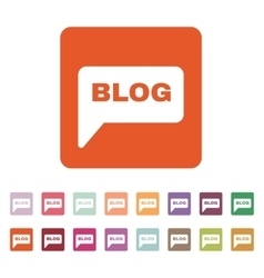 The speech bubble with a blog icon internet and vector