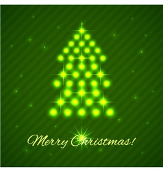 Illuminated christmas tree vector