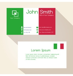 Simple ityly colors business card design eps10 vector