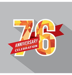 76th years anniversary celebration design vector