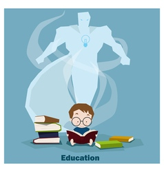 Education is superpower to success vector